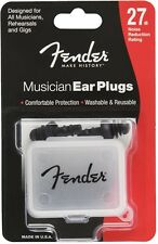 Fender Musician Ear Plugs 27db pair - Washable & Reusable - For Gigs & Rehersing