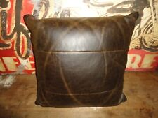 WESTERN FAUX LEATHER DARK BROWN (1PC) SQUARE THROW PILLOW 15 X 55