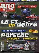 AUTO HEBDO n°1140 du 10 Juin 1998 GP CANADA 24h du MANS JAGUAR XKR SAAB 9.3