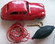 Chad Valley vintage Tin Toy remote control air car 19 cm. in large clock work