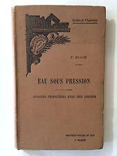 EAU SOUS PRESSION BLOCH SECTION DE L'INGENIEUR
