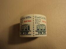 USPS Scott 2259 13.2c 1988 Coal Car 1870s Bulk Rate 200 Stamps Mint Coil