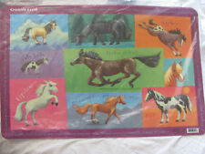 Brand New Set of 6 Table Placemats by Crocodile Creek Pinto Arabian Morgan Horse