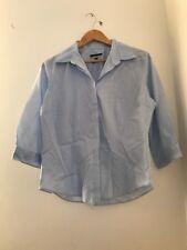 Ladies Shirt Size 14 Austin Reed Blue Long Sleeve <JJ2423