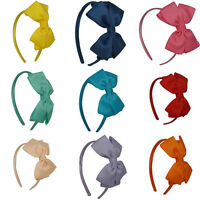Cute New Girl Hair Hoop Kids Headbands Bow Hair Accessories Headwear Red