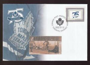 Canada 2002 Toronto Maple Leafs Forever 75th Anniv, Special Event FDC sc#S47