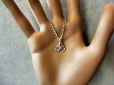 new sterling silver pair tennis racquets pendant & chain