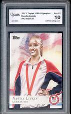 2012 Nastia Liukin Topps Usa Olympics Gymnastics Rookie Gem Mint 10 #43
