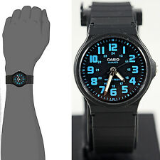 Casio MQ-71-2B Casual Blue Watch Glow Hands Water Resistant Large Numbers New
