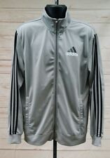 Men's Adidas Classic Full Zip Track Jacket Gray/Black Size Large L