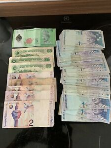 103 Malaysian Ringgit Bulk Collection Banknotes Currency 103RM