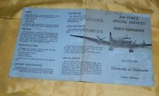 May, 1954 Air Force Special Services Sports Conference Pocket Schedule