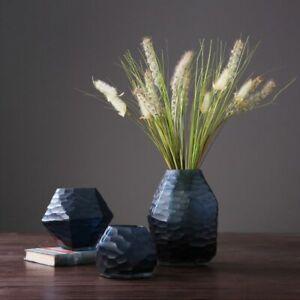 Handmade Glass Vase Geometric Irregular Rhombus Terrarium Angle Flower Container