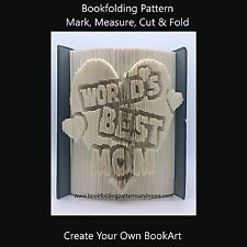 Book Folding Pattern - Cut & Fold - Worlds Best Mom
