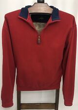 Orvis SIGNATURE SOFTEST QUARTER-ZIP RED PULLOVER Size Large