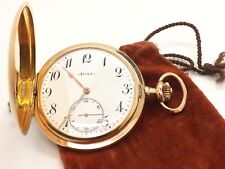 DOXA INCREDIBLE ANTIQUE 14K SOLID GOLD POCKET WATCH ~MEDAILLE D'OR. MILAN 1906~