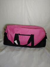 "Large Pink Duffle Bag with Side Pocket and Shoulder Strap 30""x12""x13"""