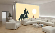 Photo Wallpaper Illustration of Cowboy GIANT WALL DECOR PAPER POSTER FREE PASTE