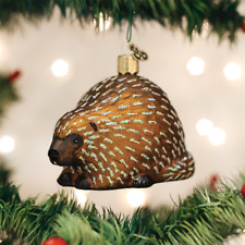 Porcupine glass Ornament Old World Christmas NEW IN BOX
