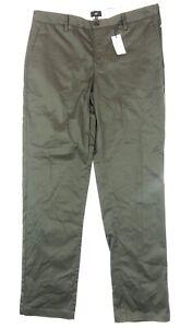 River Island Men's New Slim Fit Regular Length Dark Green Chino Trousers W36 L32