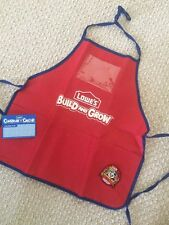 NEW 3pc Lowe's Build And Grow Apron With Pockets+Kung Fu Panda Patch+Name Card