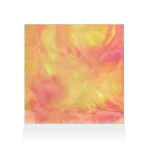 Home Decor Wall Sign Orange Red and Yellow Frozen Color Splash Art Picture Frame