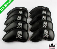 New 10pcs Skull Black Iron Headcover Covers US For Golf Callaway Mizuno Titleist
