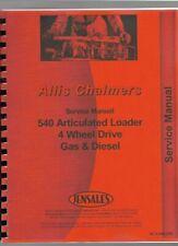 Allis Chalmers 540 Loader Service Repair Manual Articulated