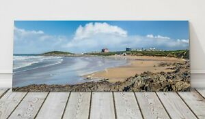 Fistral beach panoramic canvas print Cornwall framed picture Newquay famous surf