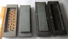 Vintage Pair NATURAL SHARPENING STONE in Wooden Case Old Antique Tool
