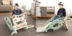 Kids Slide 4 In 1 Horse Baby Toys Children Ride Toy Multifunction Birthday Gift
