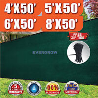 4'x50',5'x50',6'x50',8'x50' Privacy Fence Wind screen with Grommets Free Zip Tie