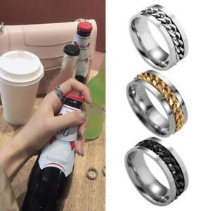 2IN1 RING Beer Bottle Opener Steel Finger Thumb Keyring Fast.
