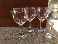 Set Of Four 8-ounce Clear Wine Glasses