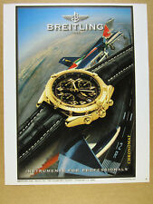 1998 frecce tricolori plane photo Breitling Chronomat watch vintage print Ad