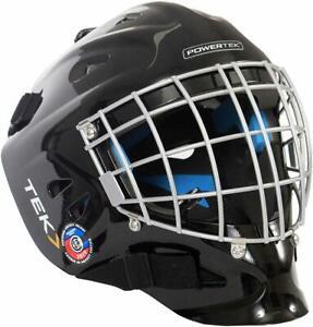 PowerTek V3.0 TEK Ice Hockey Goalie Helmet with Cage Mask, CSA Approved - Senior