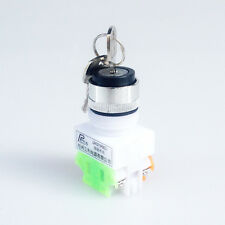 Rotary Selector 3 Position 1NO 1NC Key Lock Pushbutton Switch 660V 10A 22mm Dia.