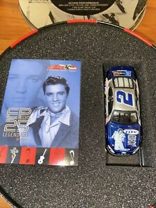 2002 rusty wallace miller lite Elvis record tin w 1/64 diecast car