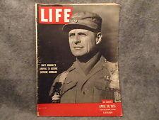 Life Magazine April 30th 1951 Vol 30 No. 18 Matt Ridgway Arrival Supreme Command