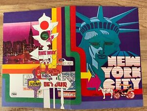 Vintage New York TWA Ambassador Service Menu 1970's Bob Peak