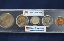 1953-S United States Silver Mint Set Original Toned Uncirculated Set of 5 E2612
