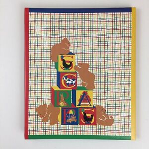 Vintage Gibson Scrapbook Gear Kids Bears & Blocks Photo Album Baby Primary Color