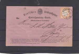 Dt. Reich 14 EF Brustschild Rückantwort bezahlt Berlin P.A.44 16 11 72 (B-5571)
