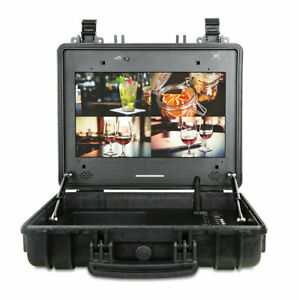 CAME-TV Portable Case 4K HDR 17 Inch Monitor with HDMI and 3G-SDI