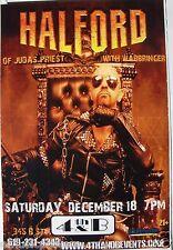 ROB HALFORD 2010 SAN DIEGO CONCERT TOUR POSTER - Judas Priest, Heavy Metal Music