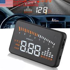 HUD-X5 Car Interface Fuel OBD II Speedometer Overspeed Warning Head Up Display