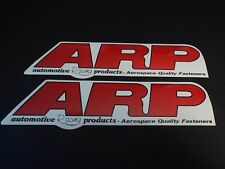 Lot of 2 ARP automotive racing products drag racing decals stickers NHRA