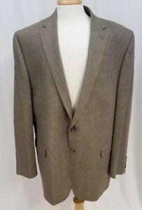 Lauren by Ralph Lauren Mens Sports Coat Brown 46L Jacket 2 Button Blazer