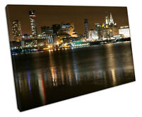 Print on Canvas city of Liverpool Liver Building albert docks Merseyside 30x20""