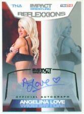 "ANGELINA LOVE ""AUTOGRAPH CARD #2/5"" KNOCKOUT TNA REFLEXXIONS"